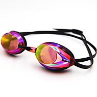 billiga Swim Goggles-Simglasögon Simglasögon Anti-Dimma Vattentät Silikon Polykarbonat Röd Blå Mörkblå Silver Röd Blå Silver