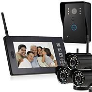 billige Dørtelefonssystem med video-MOUNTAINONE SY818MJW-3 Trådløs Fotografert Opptak Multifamilie Video Ringeklokke 7 tommer (ca. 18cm) Håndfri 640*480Pixel