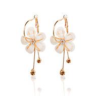 Kadın's Damla Küpeler Değerli Taş Zirkon Küpeler Çiçek / Botanik Çiçek Bayan Mücevher Altın Uyumluluk Balo Dışarı Çıkma Söz vermek