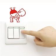 Muurtattoo Decoratieve Muurstickers Lichtknop Stickers Koelkaststickers Toiletstickers - Vliegtuig Muurstickers Abstract Verwijderbaar
