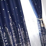 billige Gardiner-gardiner gardiner Stue Geometrisk Bomull / Polyester Trykket
