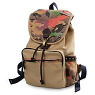 cheap Backpacks-Unisex Bags Canvas Backpack Beading / Rivet / Pattern / Print Geometric Brown