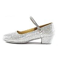 billige Moderne sko-Dame Moderne sko Paljett Høye hæler Kustomisert hæl Kan spesialtilpasses Dansesko Gull / Sølv / Innendørs