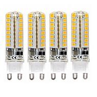 billige Kornpærer med LED-SENCART 4stk 4W 600lm lm E14 G9 G4 LED-kornpærer T 64pcs leds SMD 2835 Dekorativ Varm hvit Kjølig hvit 110-120V 220V-240V