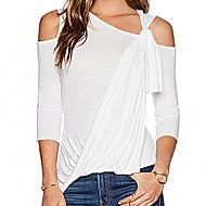 Majica s rukavima Žene - Osnovni Dnevno Izlasci Jednobojni Spuštena ramena Slim