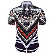 男性用 シャツ アジアン・エスニック フラワー