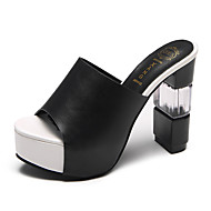 cheap Women's Sandals-Women's Shoes Leatherette Spring Summer Fashion Boots Novelty Comfort Sandals Chunky Heel for Casual Party & Evening White Black Red