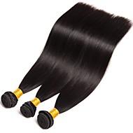 3 Bundles Brazilian Hair Straight 8A Human Hair Human Hair Extensions 8-28 inch Natural Color Human Hair Weaves Hot Sale Shedding Free Tangle Free Human Hair Extensions Women's