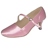 billige Moderne sko-Dame Moderne sko Sateng Høye hæler Kustomisert hæl Kan spesialtilpasses Dansesko Svart / Rosa / Mandel / Innendørs