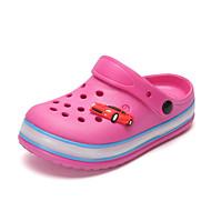 tanie Obuwie dziewczęce-Dla dziewczynek Buty EVA Lato Jesień Świecące buty Comfort Klapki i japonki LED Z dziurką na Casual Na wolnym powietrzu Black Gray Ciemno