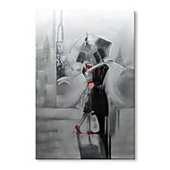 billiga Abstrakta målningar-Hang målad oljemålning HANDMÅLAD - Abstrakt Människor Samtida Moderna Duk