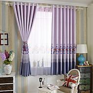 billige Gardiner-gardiner gardiner Soverom Moderne Bomull / Polyester Trykket
