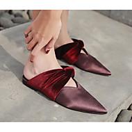 Qualité Supérieure Sortie Expédition Bas Mujer Zapatos Terciopelo Otoño / Invierno Confort Zuecos y pantuflas Tacón Plano Negro / Café Prix Livraison Gratuite TQy8U