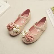 tanie Obuwie dziewczęce-Dla dziewczynek Buty Koronka Wiosna Jesień Buty dla małych druhen Comfort Buty płaskie na Casual White Różowy