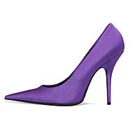tanie Obuwie damskie-Damskie Obuwie Jedwab Wiosna Jesień Czółenka zwykłe Comfort Szpilki Szpilka na Casual Black Purple Różowy