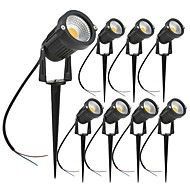 cheap Pathway Lights-ZDM® 8pcs 7W Lawn Lights Waterproof Outdoor Lighting Warm White Cold White Natural White 24V 12V