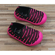 baratos Sapatos de Menino-Para Meninos / Para Meninas Sapatos Tecido Primavera / Outono Conforto / Primeiros Passos Mocassins e Slip-Ons para Preto / Fúcsia / Verde