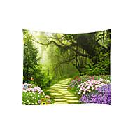 tanie Dekoracje ścienne-Motyw Garden / Krajobraz Dekoracja ścienna 100% poliestru Klasyczny / Nowoczesny Wall Art, Ścienne Gobeliny Dekoracja