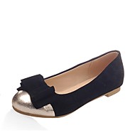 cheap Women's Flats-Women's Shoes Leatherette Spring / Summer Comfort Flats Flat Heel Round Toe Bowknot Black / Blue / Pink