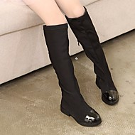baratos Sapatos de Menina-Para Meninas Sapatos Tecido Outono / Inverno Botas da Moda Botas para Preto