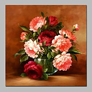 billiga Blom-/växtmålningar-Hang målad oljemålning HANDMÅLAD - Stilleben Blommig / Botanisk Klassisk Duk