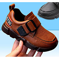 baratos Sapatos de Menino-Para Meninos Sapatos Micofibra Sintética PU Primavera / Outono Conforto Mocassins e Slip-Ons para Preto / Marron
