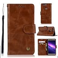 billiga Mobil cases & Skärmskydd-fodral Till Huawei Honor 8 Pro Honor 7X Korthållare Plånbok med stativ Lucka Fodral Ensfärgat Hårt PU läder för Honor 9 Honor 8 Pro Honor