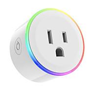 tanie Ulepszanie domu-Gniazdko Przysłonięcia Światła RGB Funkcja Nightlight Zaplanowany czas Kontroluj swoje urządzenie z dowolnego miejsca Wymagany No-Hub ze