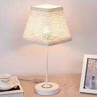 billige Skrivebordslamper-Dekorativ Skrivebordslampe Til Metall Hvit / Gul / Tre
