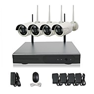 cheap Wireless CCTV System-4CH WIFI 720P HD Camera Night Vision Camera P2P colud 90 PAL/NTSC Transfer Rate 100