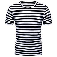 Herre - Stribet Farveblok Trykt mønster Gade T-shirt