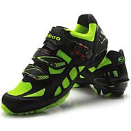 Tiebao® Mountain bike sko Kulstoffiber Anti-glide, Påførelig, Åndbarhed Cykling Grøn / Sort Herre