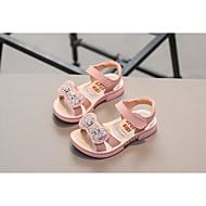 baratos Sapatos de Menina-Para Meninas Sapatos Pele Verão Conforto Sandálias para Crianças Branco / Rosa claro