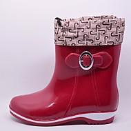baratos Sapatos de Menina-Para Meninos / Para Meninas Sapatos Pele PVC Outono / Inverno Botas de Chuva Botas para Bege / Vermelho / Verde Claro