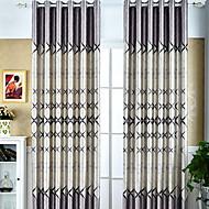 billige Mørkleggingsgardiner-Blackout Gardiner Stue Stribe Moderne Bomull / Polyester Trykket