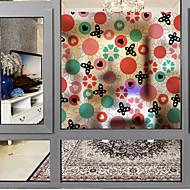 baratos Películas e Adesivos de Janela-Filme de Janelas e Adesivos Decoração Floral Moderna Floral PVC Adesivo de Janela Fosco