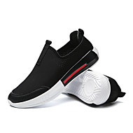 baratos Sapatos Masculinos-Homens Tule / Couro Ecológico Verão / Outono Conforto Tênis Corrida / Ciclismo / Caminhada Branco / Preto / Vermelho
