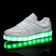 cheap Women's Sneakers-Men's / Women's Shoes PU(Polyurethane) Spring / Fall Comfort / Light Up Shoes Sneakers Flat Heel LED White / Black