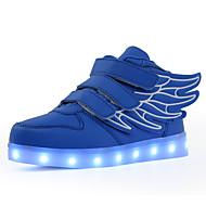 tanie Obuwie chłopięce-Dla chłopców Obuwie PU Lato Wygoda / Świecące buty Adidasy Spacery LED na Czarno-zielony / Czerwony / Królewski błękit
