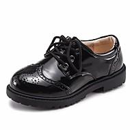 baratos Sapatos de Menino-Para Meninos Sapatos Pele Primavera / Outono Conforto Mocassins e Slip-Ons para Preto