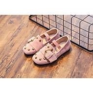 tanie Obuwie dziewczęce-Dla dziewczynek Buty Nubuk Wiosna Jesień Comfort Mokasyny i pantofle na Casual Black Różowy Khaki