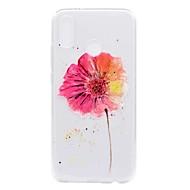 billiga Mobil cases & Skärmskydd-fodral Till Huawei P20 lite P8 Lite (2017) Genomskinlig Mönster Skal Blomma Mjukt TPU för Huawei P20 lite Huawei P20 Pro Huawei P20 P10