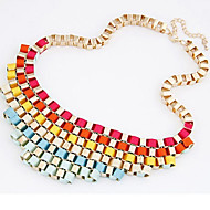 Collar Necklace - Oversized Rainbow 50 cm Necklace Jewelry For Evening Party, Date