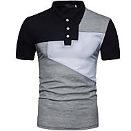 Homens Camiseta Básico Estampado,Estampa Colorida
