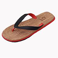 tanie Obuwie męskie-Męskie Buty Syntetyczny Lato Comfort Klapki i japonki na Casual Yellow Czerwony Niebieski