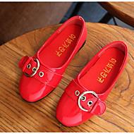 tanie Obuwie dziewczęce-Dla dziewczynek Buty PU Wiosna Jesień Mokasyny Comfort Mokasyny i pantofle na Casual Black Czerwony