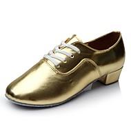 Bărbați Pantofi Dans Latin PU Adidași Toc Drept Personalizabili Pantofi de dans Auriu / Interior