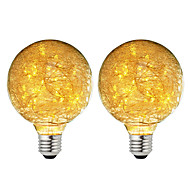 billige Globepærer med LED-BRELONG® 2pcs 3W 300lm E26 / E27 LED-globepærer 47 LED perler SMD Stjernefull Dekorativ Varm hvit 220-240V