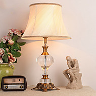 billige Lamper-Rustikk / Hytte Krystall Dekorativ Bordlampe Til Metall 220-240V Gul