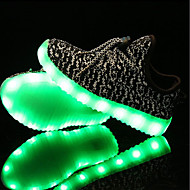 baratos Sapatos de Menina-Para Meninos / Para Meninas Sapatos Tricô / Tule Verão / Outono Tênis com LED Tênis LED para Crianças Preto / Cinzento